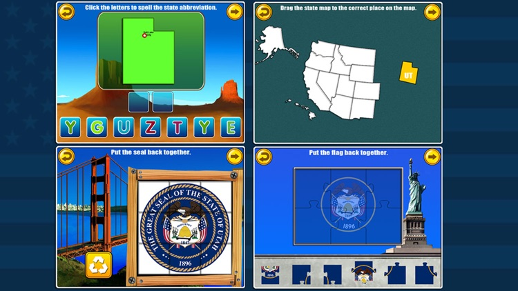 Fifty States and Capitals Game screenshot-4