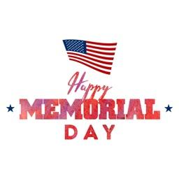 Happy Memorial Day Sticker Emo
