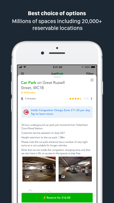 JustPark Parking screenshot two