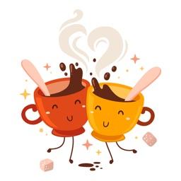 Coffee-Hot Coffee Stickers