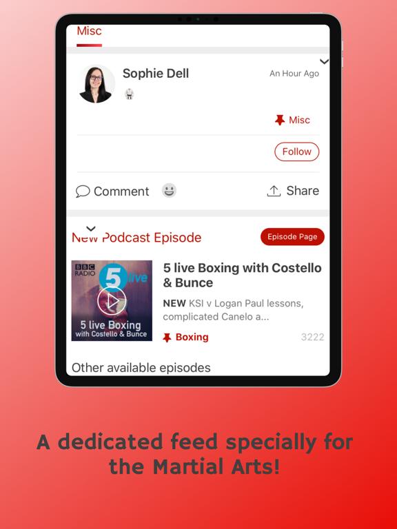 The Martial Arts App screenshot
