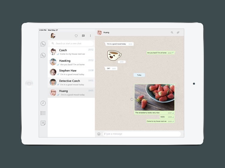 Messenger for WhatsApp iPad