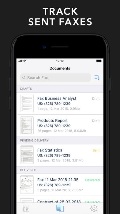 Fax from iPhone - Send Fax App Screenshot