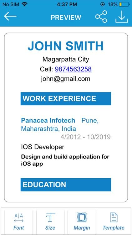 Resume Builder - CV Maker screenshot-4