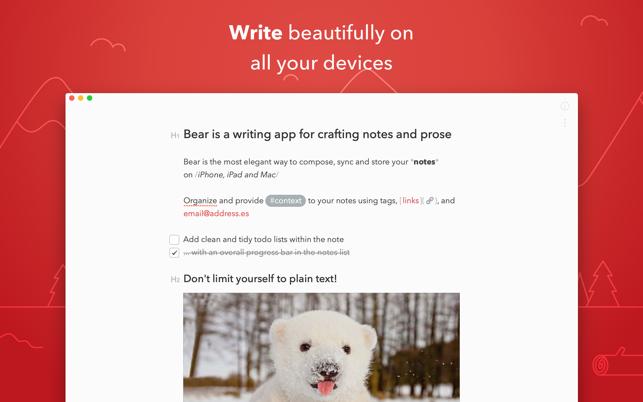 Bear on the Mac App Store