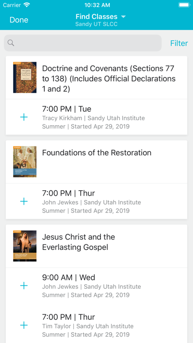 messages.download Seminary and Institute software
