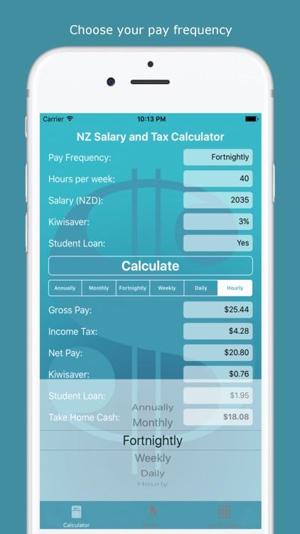 NZ Salary and Tax Calculator screenshot-3