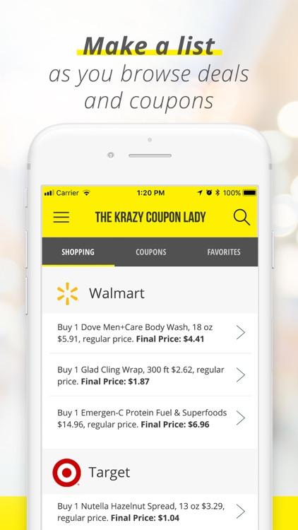 Krazy Coupon Lady: Shop Deals screenshot-3