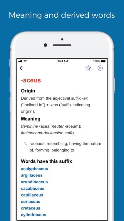 Latin prefixes and suffixes screenshot-6