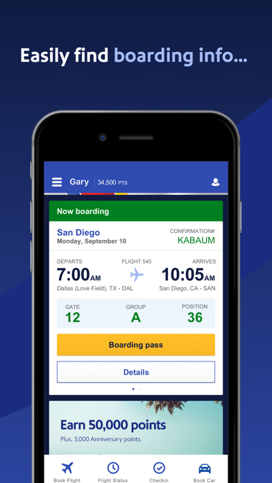 Southwest Airlines review screenshots