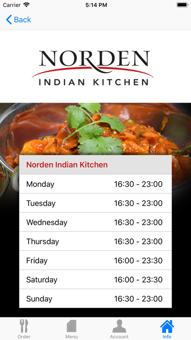 Norden Indian Kitchen screenshot four