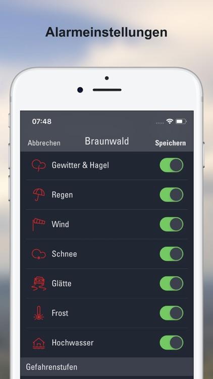Wetter-Alarm: Wetter Schweiz screenshot-4