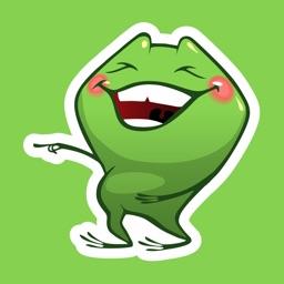 Crazy Frog Sticker Emoticons
