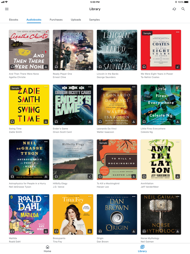 ?Google Play Books Screenshot
