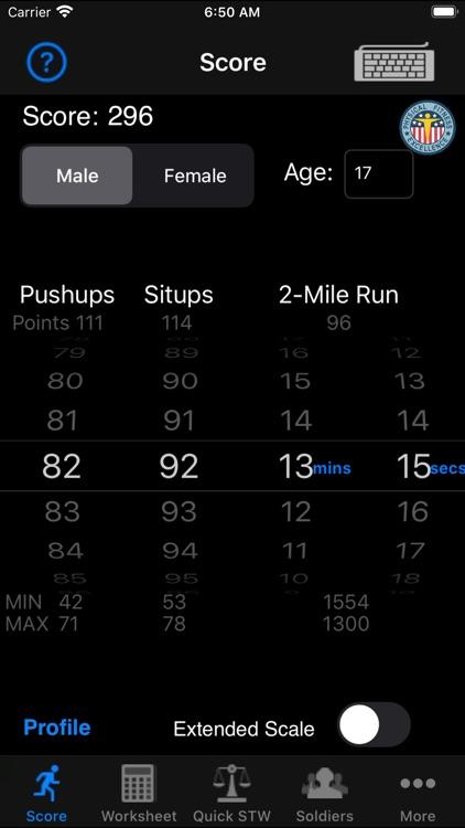 Army Fitness APFT Calculator screenshot-4