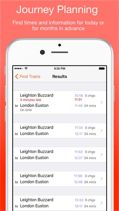 UK Live Trains screenshot two