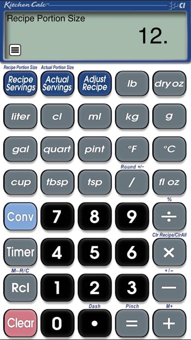 KitchenCalc Pro Culinary Math Screenshot