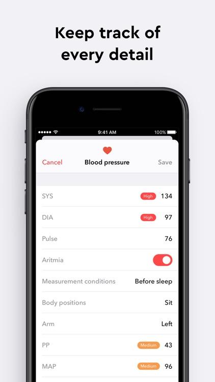 Blood Pressure Monitor app screenshot-4