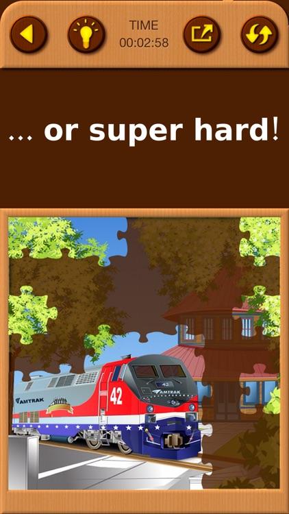 Train Jigsaw Puzzles for Kids screenshot-4
