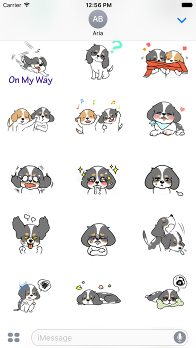 Adorable Cavalier Dog Sticker Screenshot