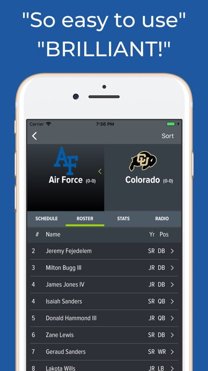 Air Force Football Schedules