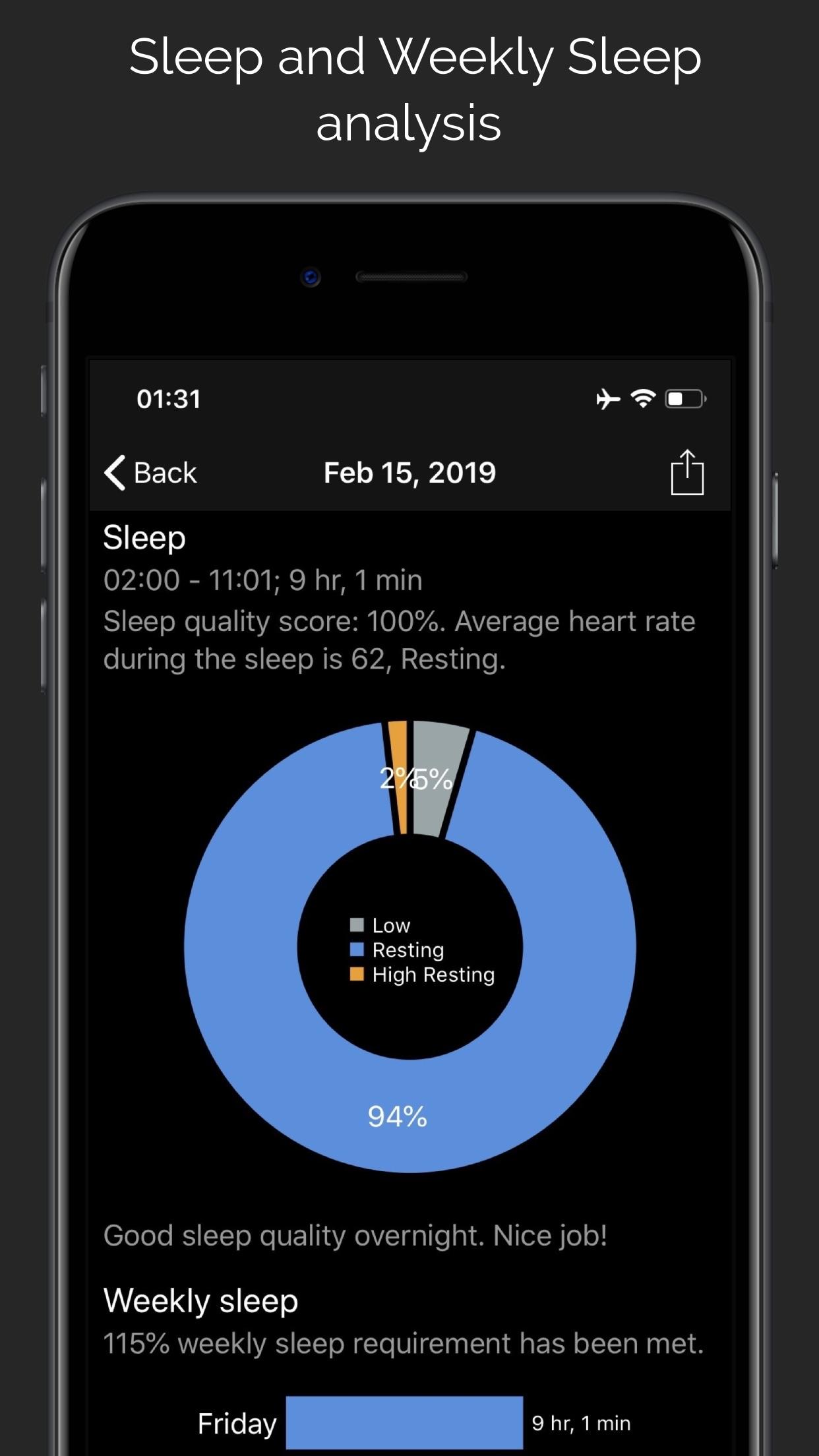 Screenshot do app CardioBot - Heart Rate Tracker