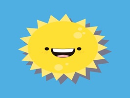 Sun emoji sticker 2019