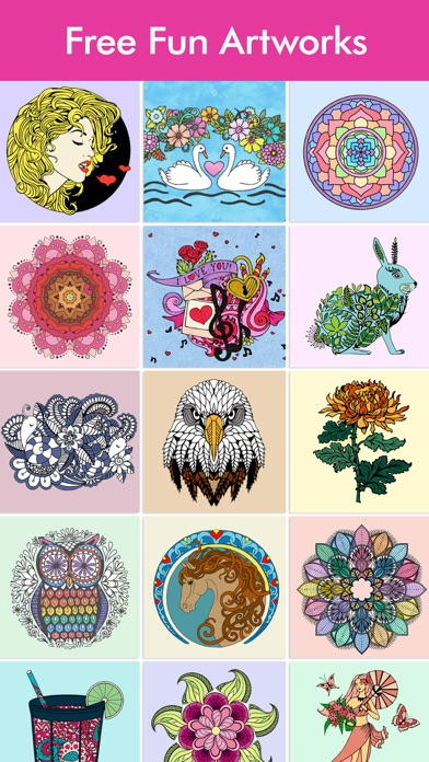 Adult Coloring Book   COLORS Screenshot on iOS
