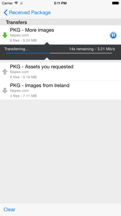 IBM Aspera Faspex Mobile screenshot-2