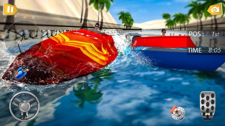 Fun Speed Boat 3D Race Battle screenshot-4