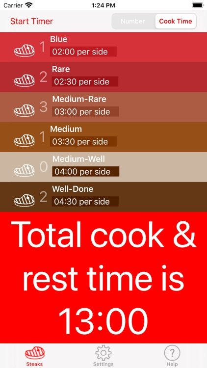 Steak Timer Pro screenshot-2