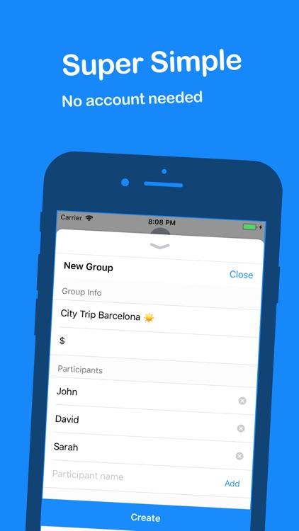 Split It - Group bills manager screenshot-3