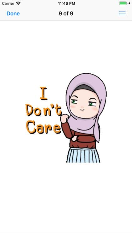 Muslim Hijab Girl Greetings screenshot-7