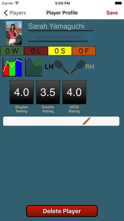 Tennis Score Tracker (Blue)