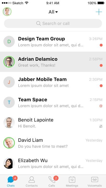 Cisco Jabber for BlackBerry screenshot-4