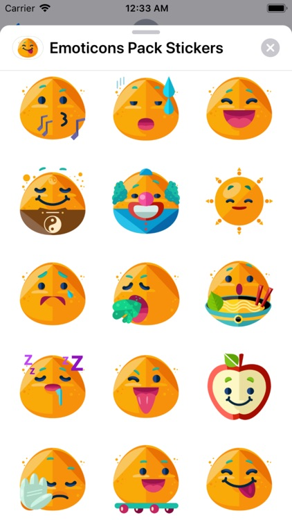 Emoticons Pack Stickers