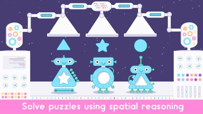 Screenshot of Little Robot Shapes and Colors App