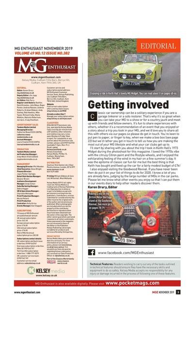 MG Enthusiast Magazine Screenshot