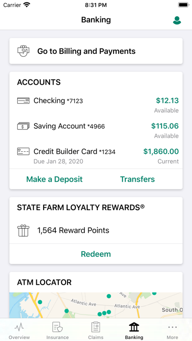 State Farm review screenshots