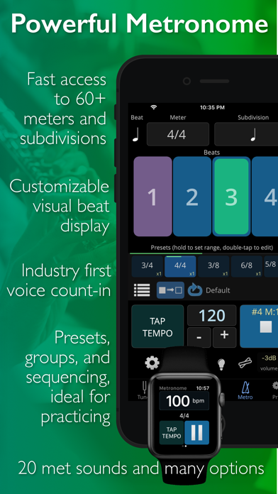 Screenshot for TonalEnergy Tuner & Metronome in Saudi Arabia App Store
