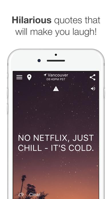 HumorCast - Hilarious Weather Screenshot