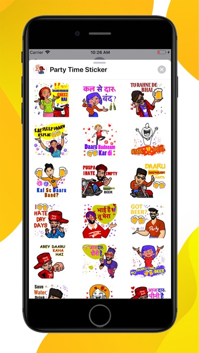 Screenshot for Party On Time Stickers in Thailand App Store