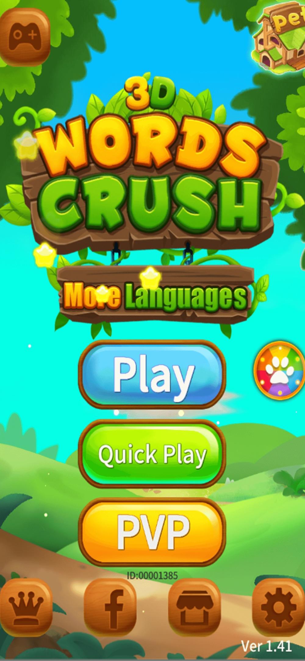 Words Crush 3D Cheat Codes