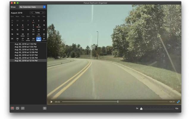 Focus Dashcam Organizer updated for Tesla V10 Image