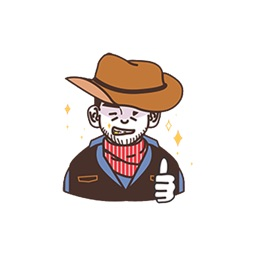 American Cowboy Stickers