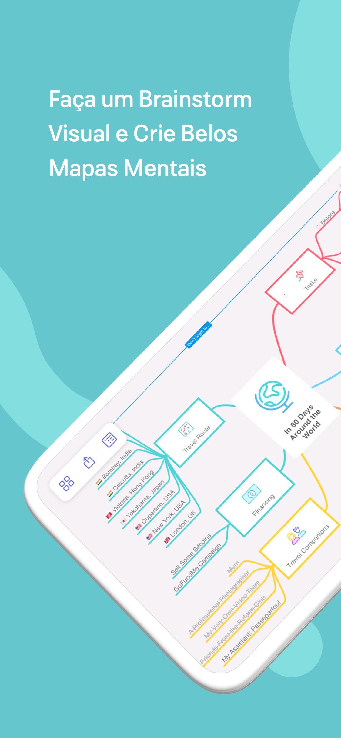 Screenshot do app MindNode 6