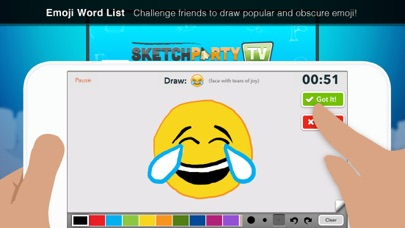 Screenshot from SketchParty TV