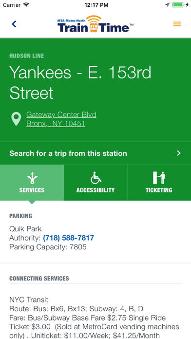 Screenshot for Metro-North Train Time in United States App Store
