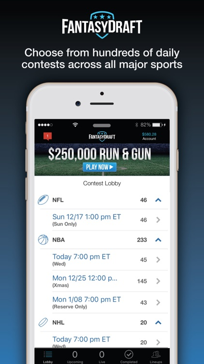 FantasyDraft: Fantasy Sports screenshot-0