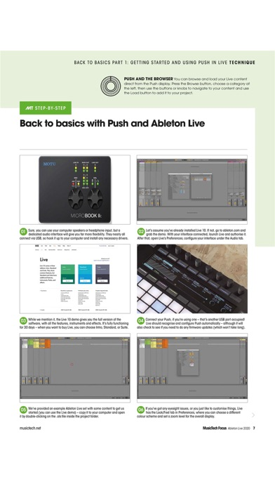 MusicTech Focus Magazine Screenshot